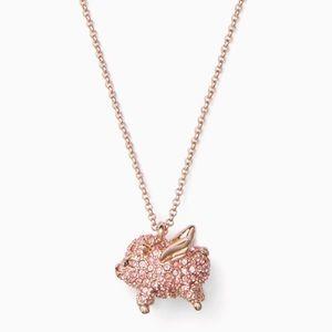 KATE SPADE Imagination Pig Mini Pendant Necklace